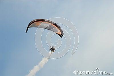 Paraglider at Bristol Hot Air Balloon Festival Editorial Stock Photo