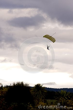Paraglider Descending