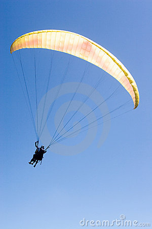 Free Paraglider Flies Into The Blue Royalty Free Stock Photos - 3387298