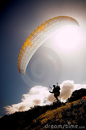 Free Paraglider Launching From The Stock Photos - 2255603