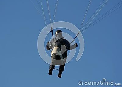 Paraglider na ação