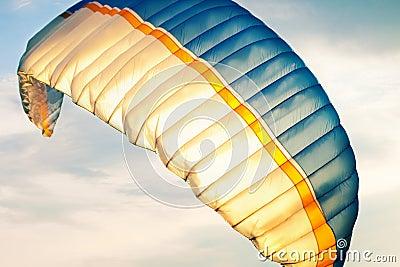 Paraglider on sky