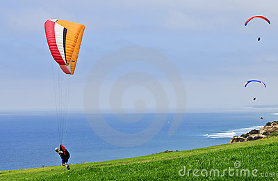 Paragliders,  California Editorial Stock Image