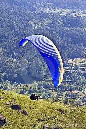 Paragliding Editorial Photo