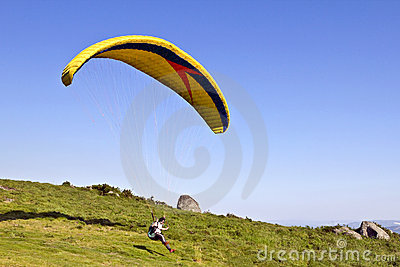 Paragliding Editorial Stock Photo