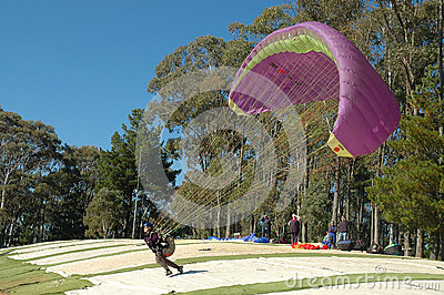 Paragliding. Editorial Photo
