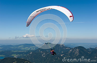 Paragliding in alps Editorial Photo