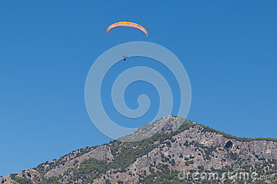 Paragliding  in Oludeniz Editorial Photo