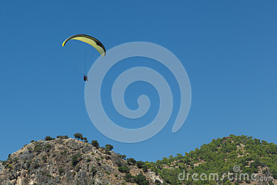 Paragliding  in Oludeniz Editorial Stock Image