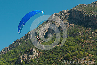 Paragliding  in Oludeniz Editorial Photography