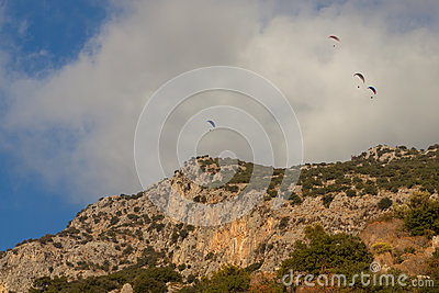 Paragliding in Oludeniz, Turkey Editorial Image