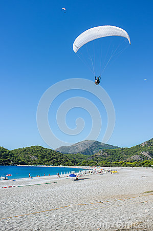 Paragliding Editorial Stock Image