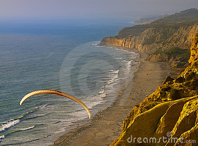 Paragliding at Sunset, California