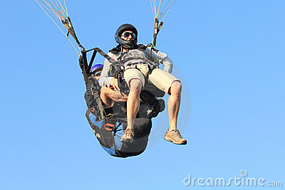 Paragliding - Tandem Editorial Stock Photo