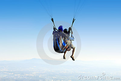 Paragliding - Tandem Editorial Stock Image