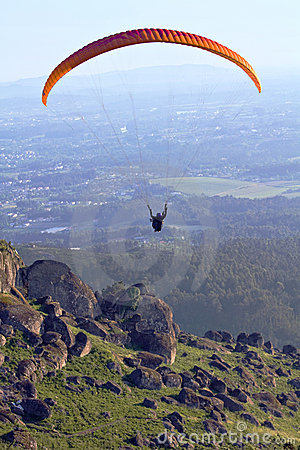 Paragliding - two seater Editorial Photography