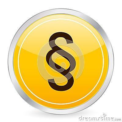 Paragraph symbol yellow circle