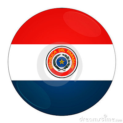 Paraguay button with flag
