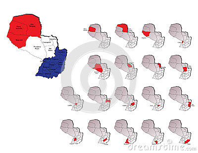 Paraguay provinces maps