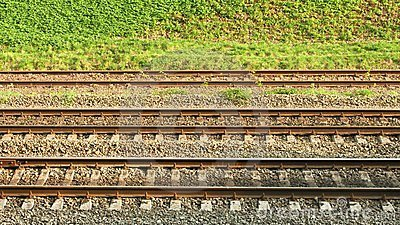 Parallel rail lines