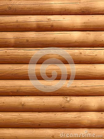 Parallel wooden logs