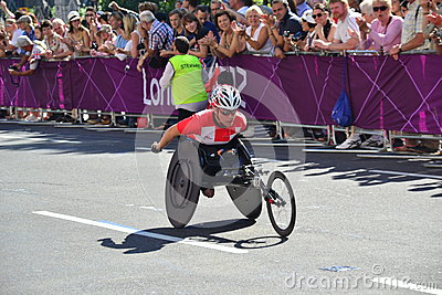 Paralympic Athlete, wheels Editorial Photography
