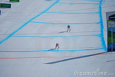 Paralympic Downhill Skiing Editorial Photo