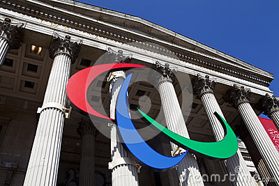 The Paralympic Logo on the National Gallery Editorial Image