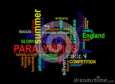 Paralympics 2012 - London Summer Games words cloud