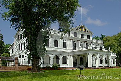 Paramaribo presidential palace Editorial Stock Photo