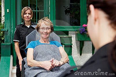Paramedic with Senior Woman