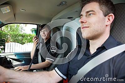 Paramedic Team in Ambulance