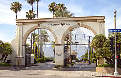 Paramount Pictures Movie Studio Entrance Sign Editorial Photo