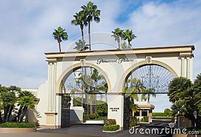 Paramount Studios Main Gate Editorial Stock Image