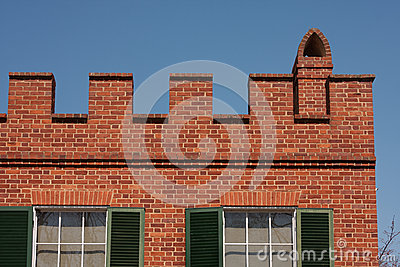Parapet on Brick House