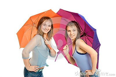Paraply för flicka två