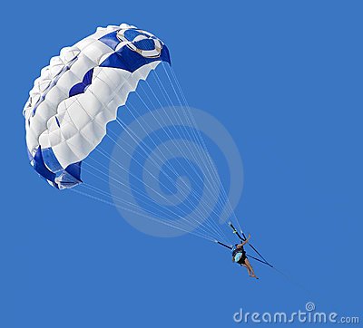 Parasailer Against Blue Sky