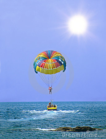Free Parasailing In Summer Stock Image - 19109861