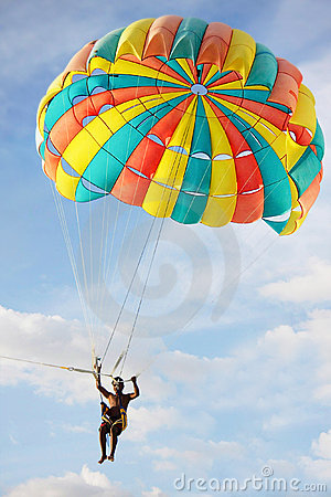 Free Parasailing On Sky Background Stock Images - 18718774