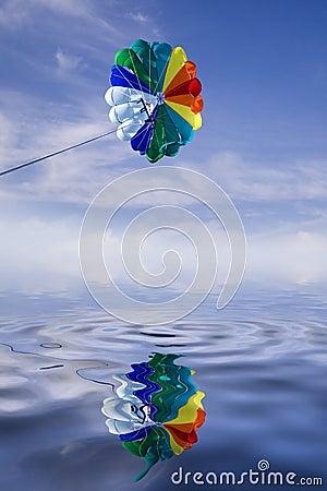 Parasailing parachute.
