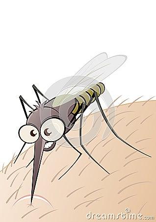 Parasitic bug on flesh