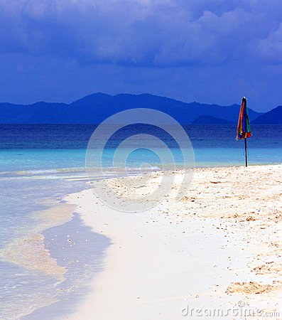 Parasol on beach