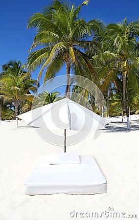 Parasol beach tropical umbrella mattress