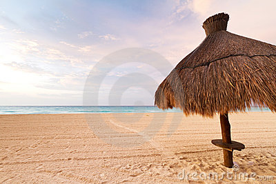 Parasol at Caribbean Sea