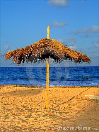 Parasolar umbrella at the seaside