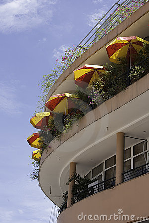 Parasols on modern building