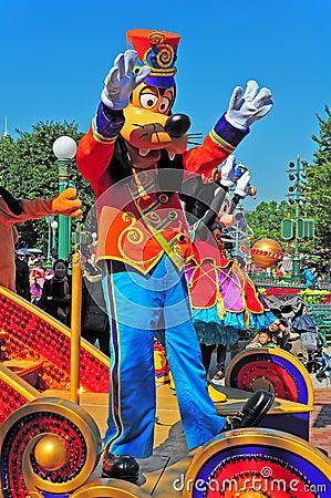 Parata del Disney con il mouse di minnie e sciocco Immagine Editoriale