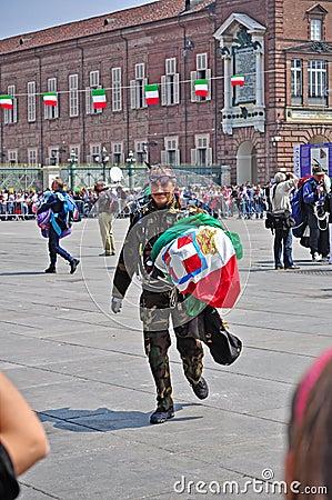 Paratrooper Editorial Stock Photo
