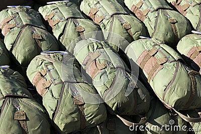 Paratrooper parachutes