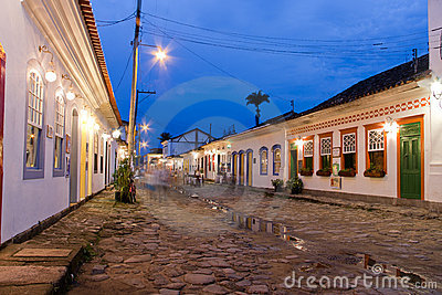 Paraty Historical City at Night